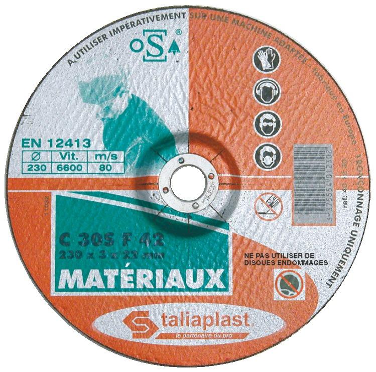 Disque abrasif matériaux