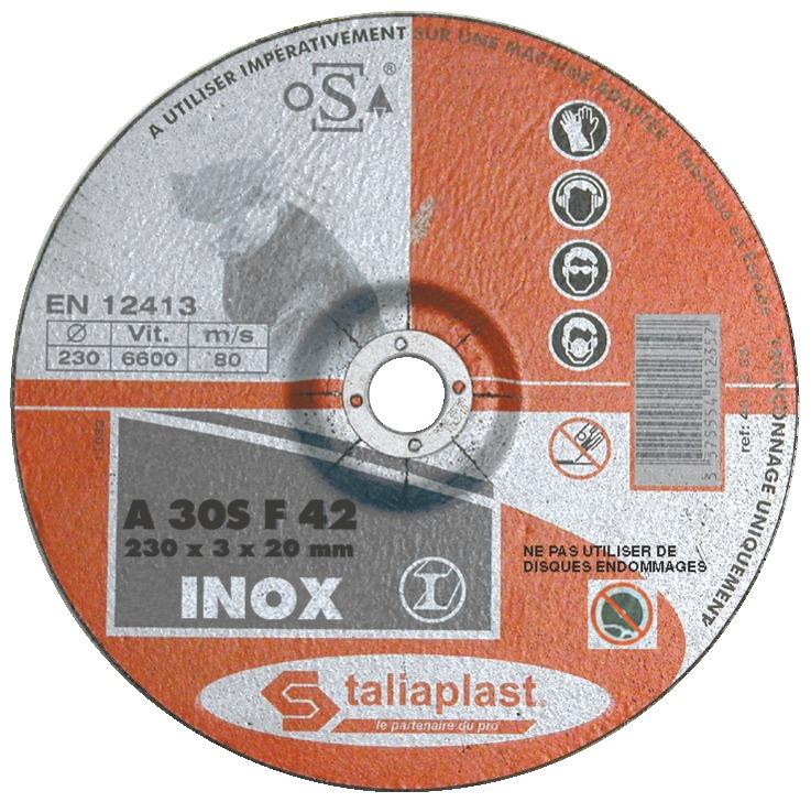 Disque abrasif INOX, acier, tôles