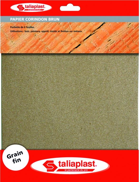 Papier corindon brun