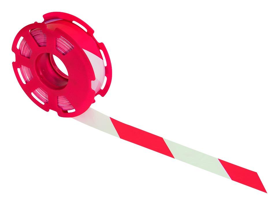 Rubafort® rouge et blanc sur flasque plastique rouge