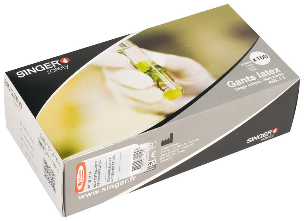 Gant nitrile à usage unique (boîte de 100)