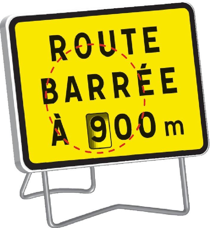 KC1 Route barrée (disque chiffres)