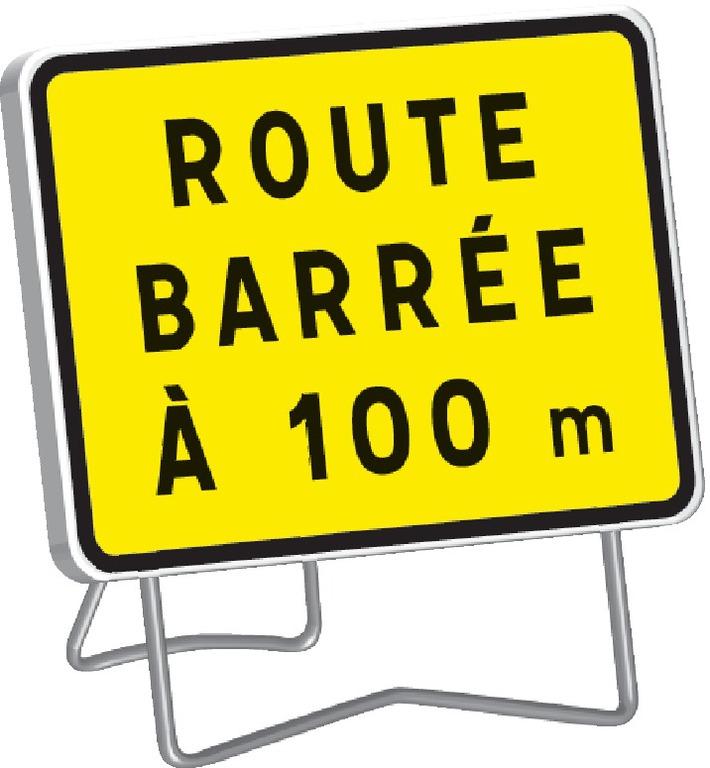 KC1 Route barrée à 100 m