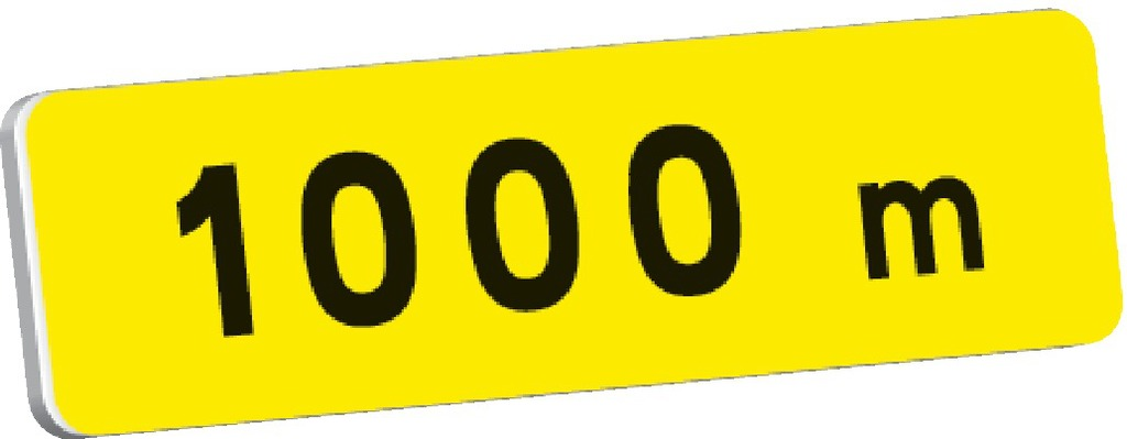 KM1 à 1000m (*exemple)