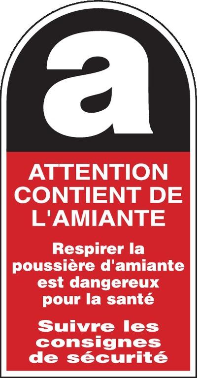 Attention contient del'amiante