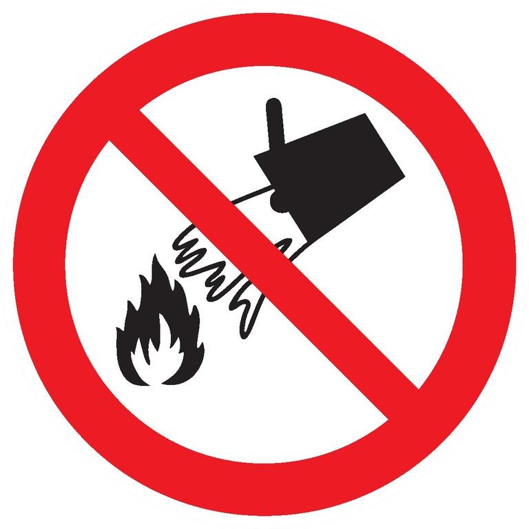 Interdiction d'éteindre avec del'eau