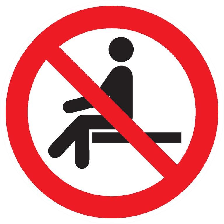 Interdiction des'asseoir