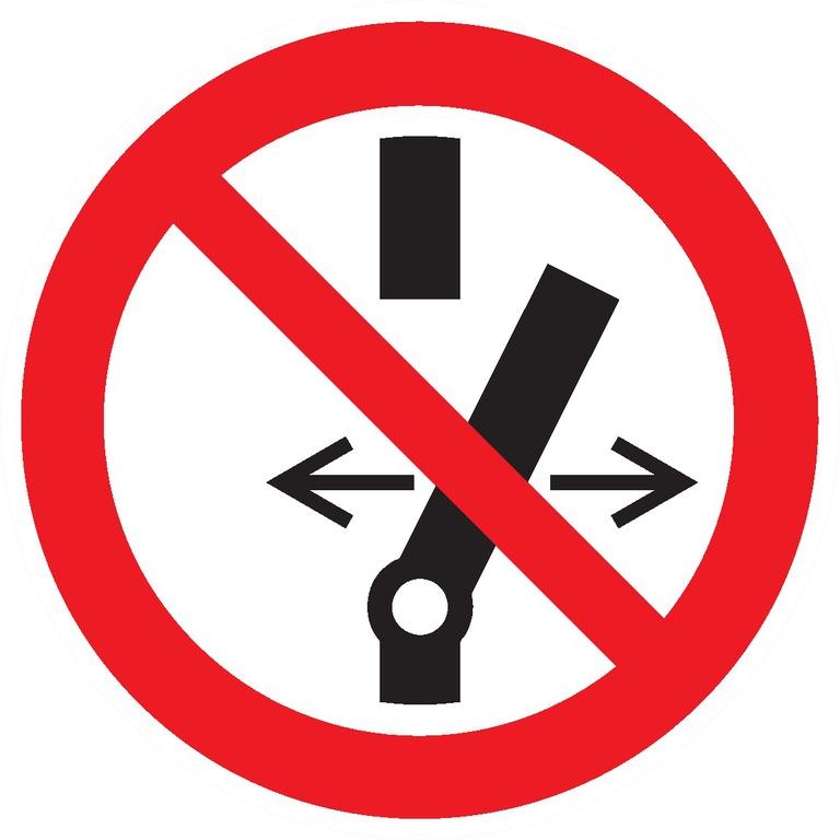 Ne pasmodifier laposition del'interrupteur