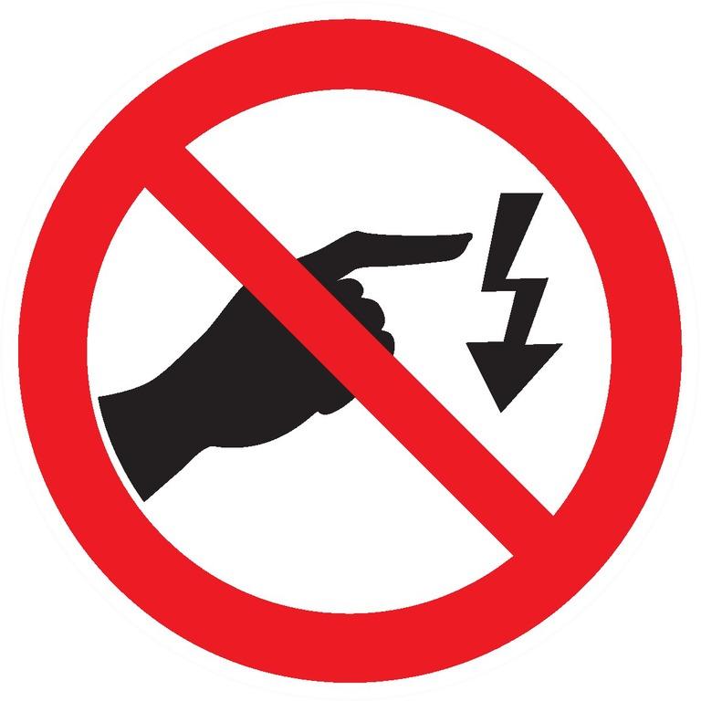 Interdit detoucher, risque d'électrocution