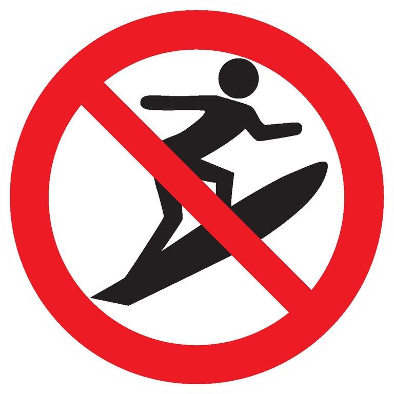 Sports deglisse interdits