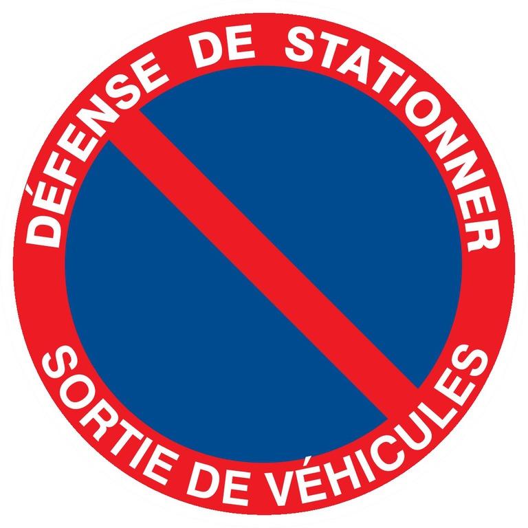 Défense destationner sortie de véhicules