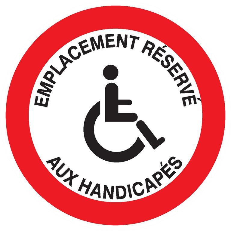 Emplacement réservé auxhandicapés