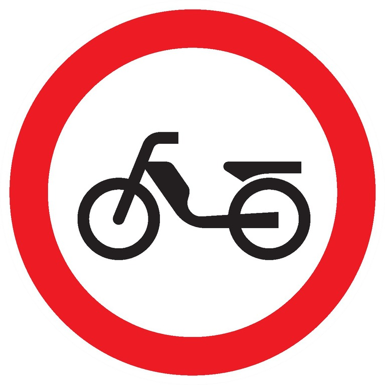 Interdit aux cyclomoteurs
