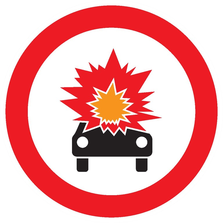 Transports interdit de produits explosifs, inflammables