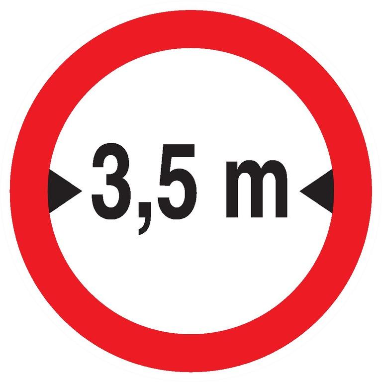 Interdit auxvéhicules deplus de3,5m delarge