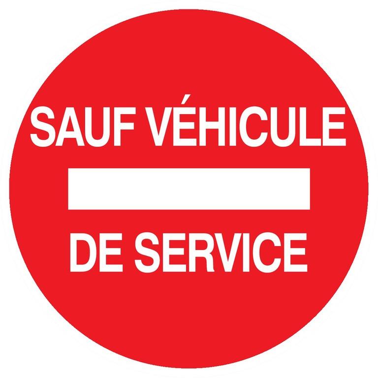 Sens interdit sauf véhicule deservice