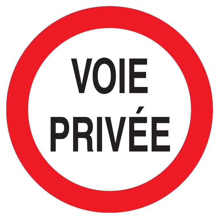 Voie privée circulation interdite
