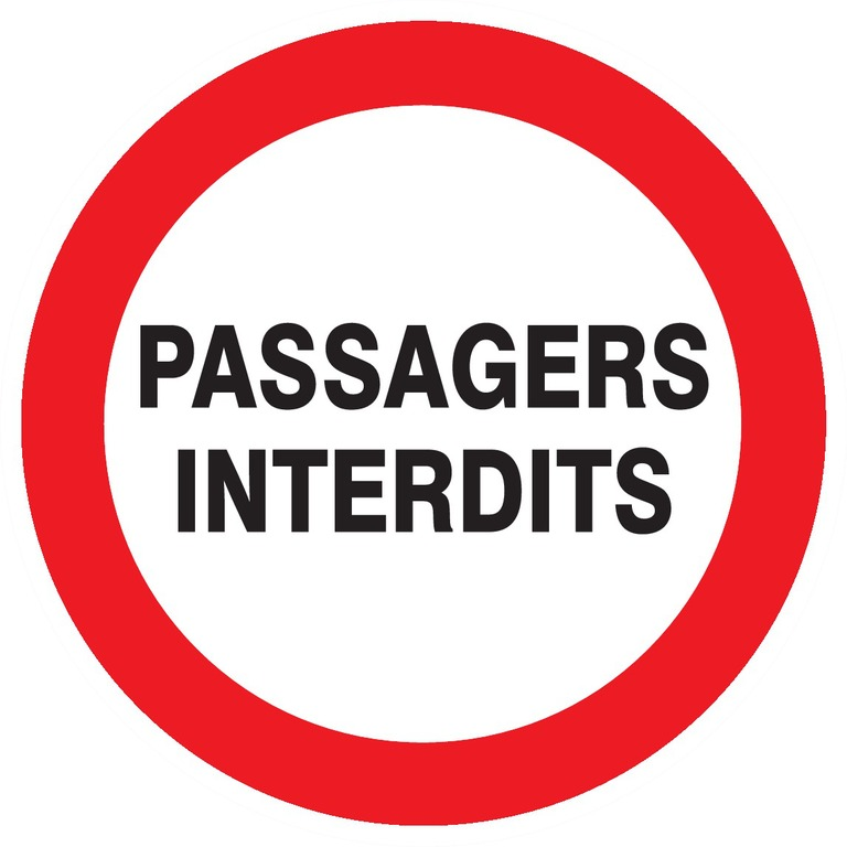 Passagers interdits