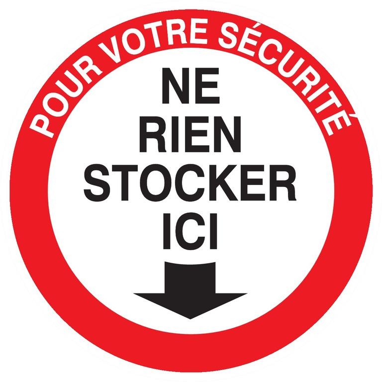 Pour votre sécurité, ne rien stocker ici