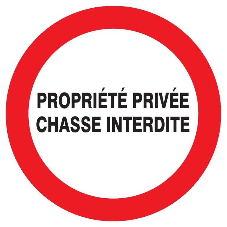 Propriété privée chasse interdite