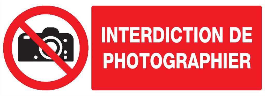 Interdiction dephotographier
