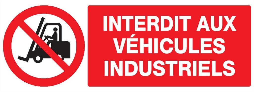 Interdit auxvéhicules industriels