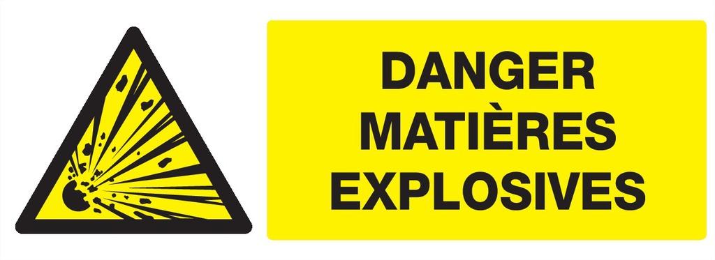 Danger matières explosives