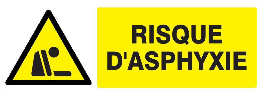 Danger risque d'asphyxie