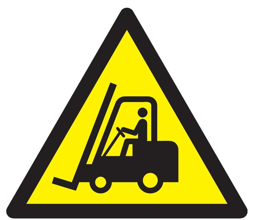 Danger, chariots élévateurs àfourche etautres véhicules industriels