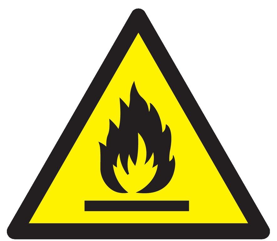 Danger, matières inflammables