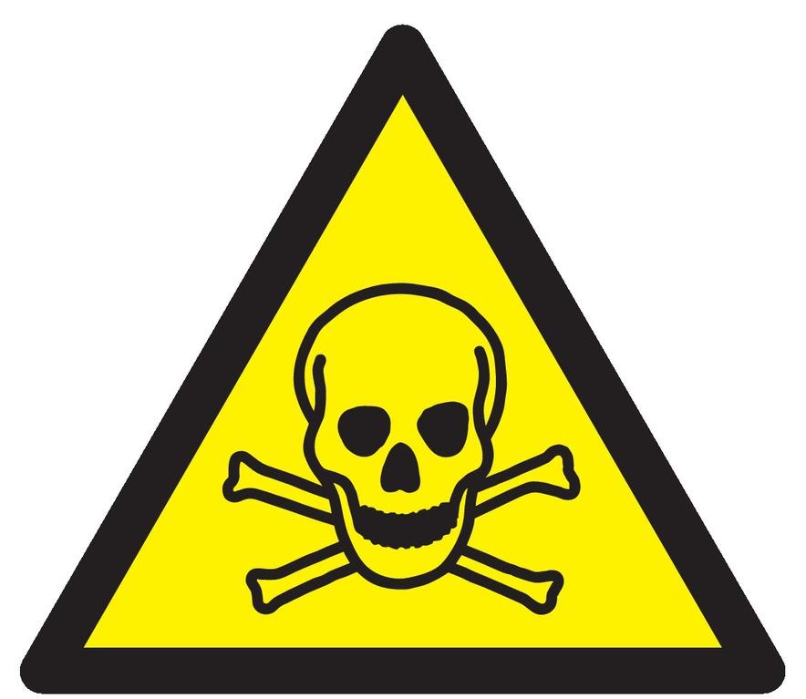 Danger, matières toxiques
