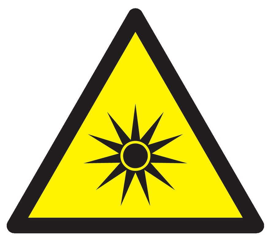 Danger, rayonnement optique
