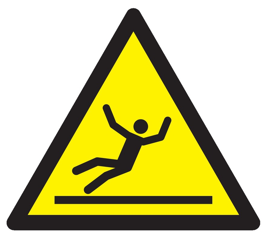 Danger, surface glissante