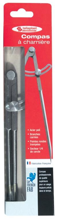 Compas à ressort porte-crayons