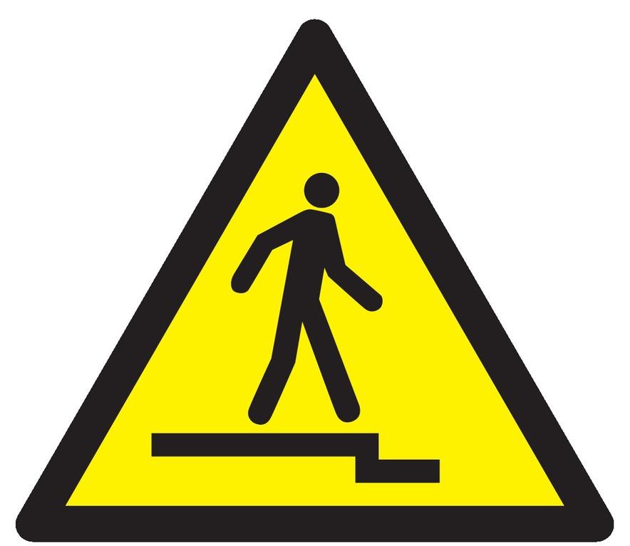 Danger accès accidenté vers lebas