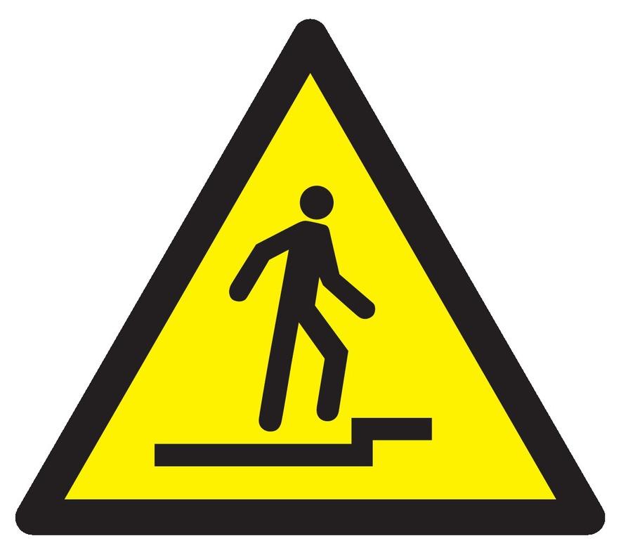 Danger accès accidenté vers lehaut