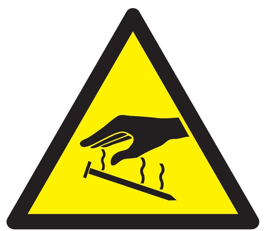 Danger électricité statique