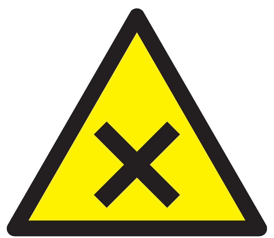 Danger matières nocives ouirritantes