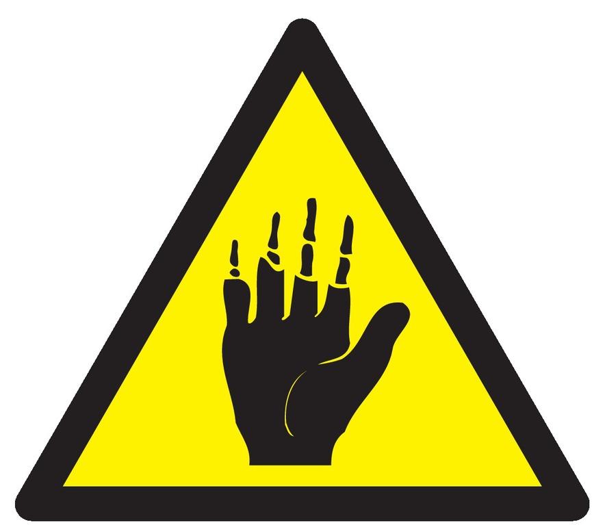 Danger produit corrosif pour lesmains