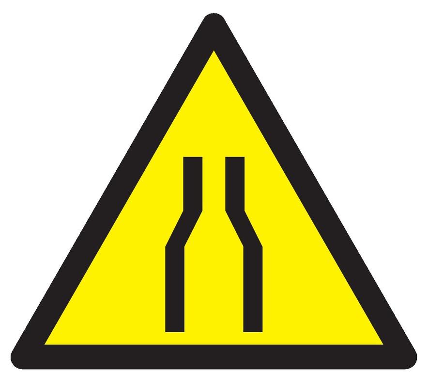 Danger rétrécissement