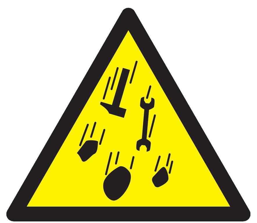Danger risque dechute de matériel