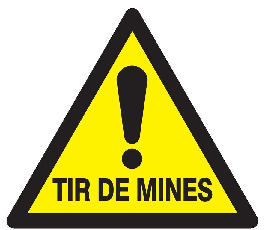 Danger tir demines