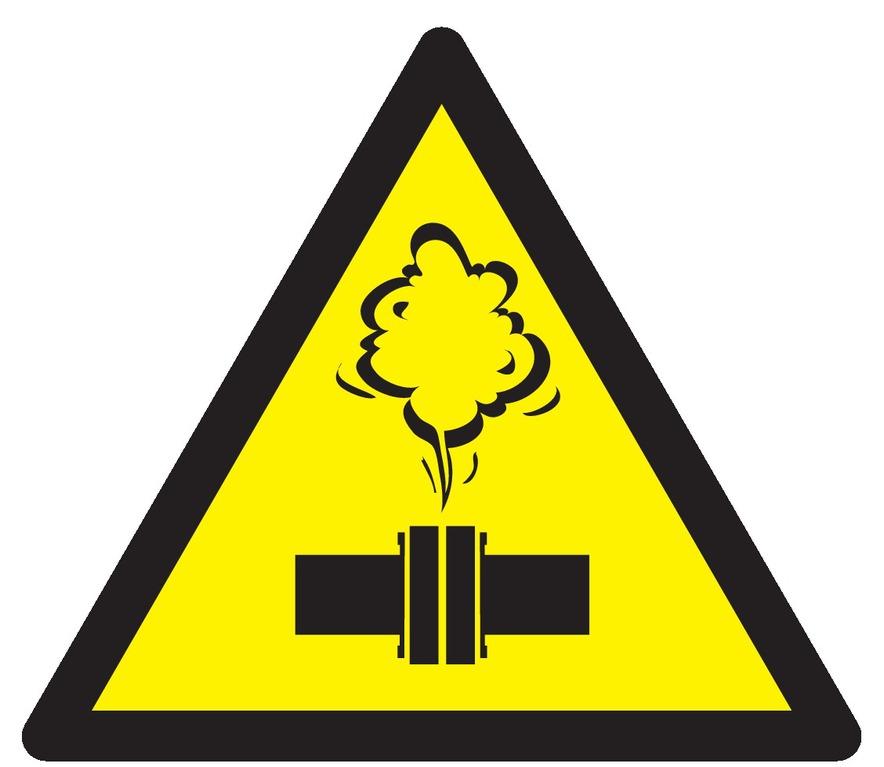 Danger vapeur chaude