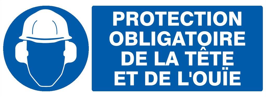 Protection obligatoire dela tête etde l'ouïe