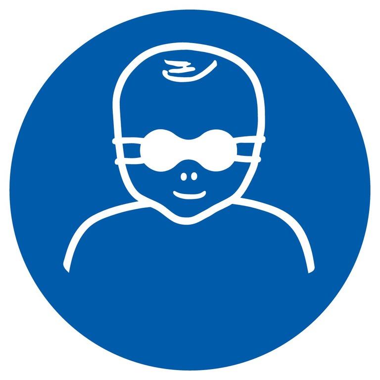 Protection opaque des yeux pour enfants en bas âge