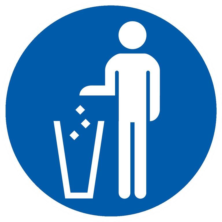 Jeter lesdéchets à lapoubelle obligatoire