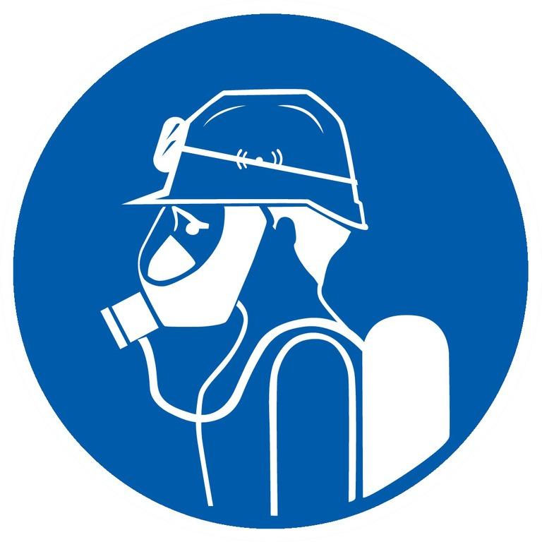 Protection obligatoire tête, vue et voies respiratoires