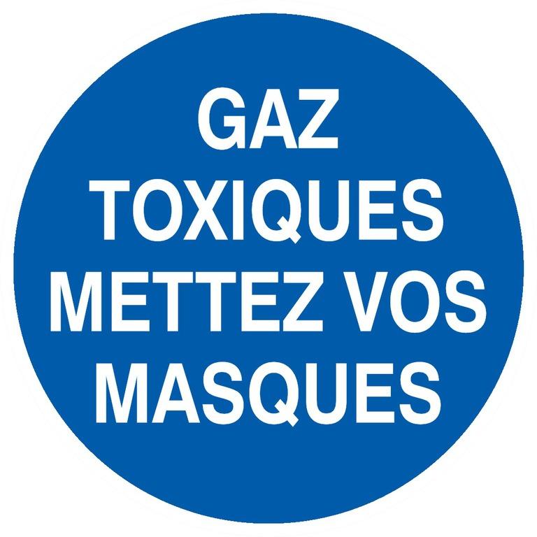 Gaz toxiques mettez vosmasques