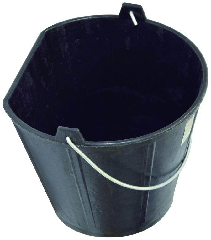 Seau caoutchouc côté plat 17 litres