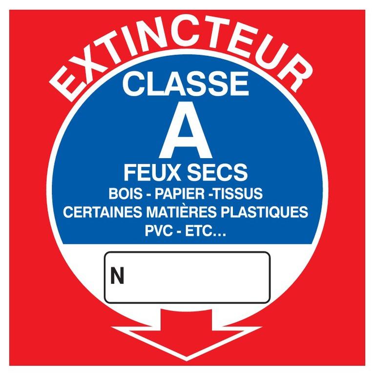 Extincteur classe A
